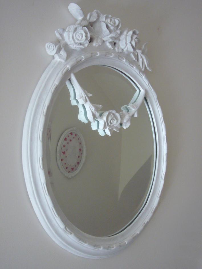 Miroir shabby inspiration shabby for Miroir romantique
