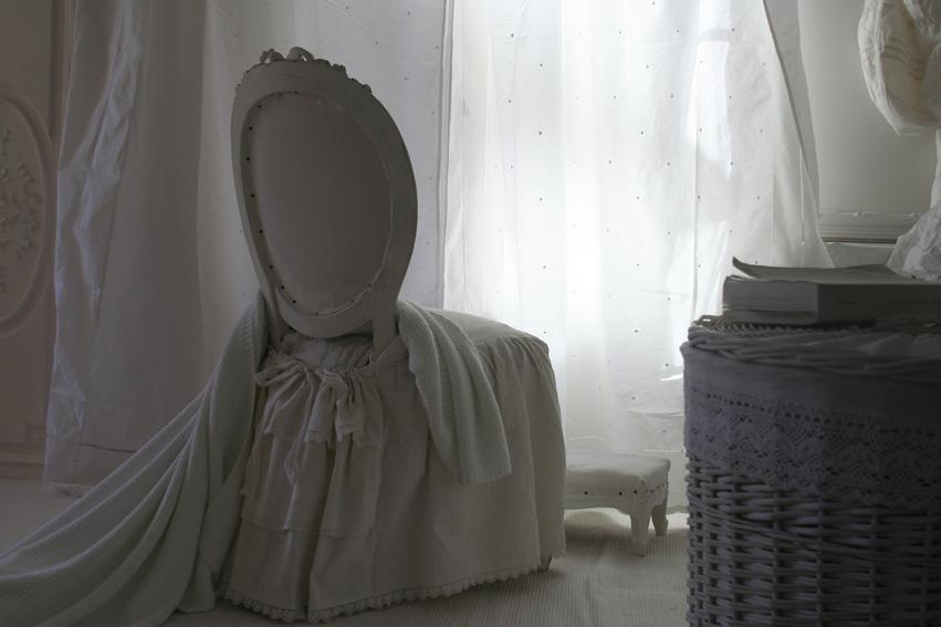 Housse chaise inspiration shabby - Housse de chaise sur mesure ...
