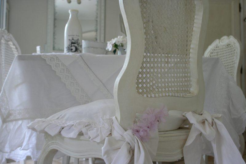 Table romantique for Linge de maison shabby chic